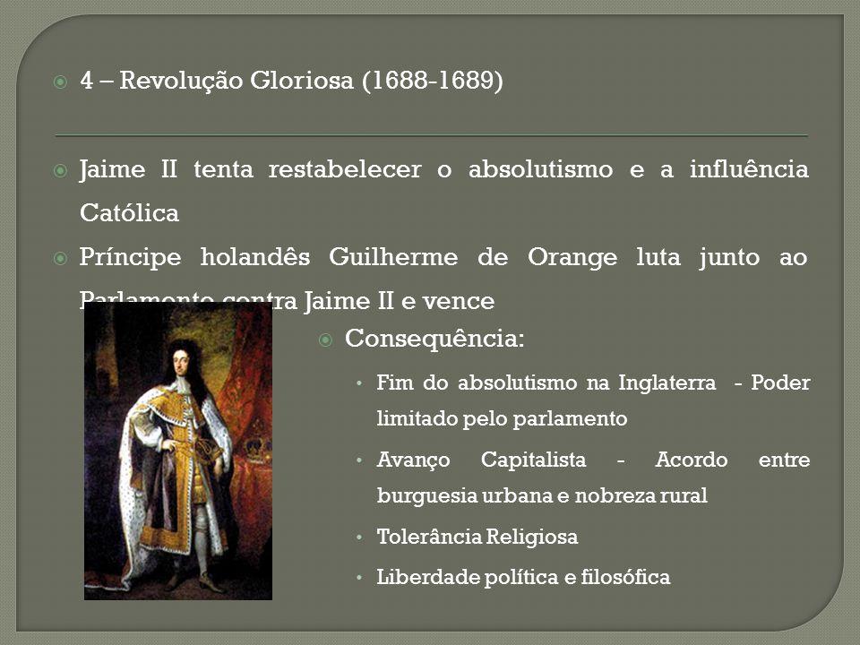 4 – Revolução Gloriosa (1688-1689)
