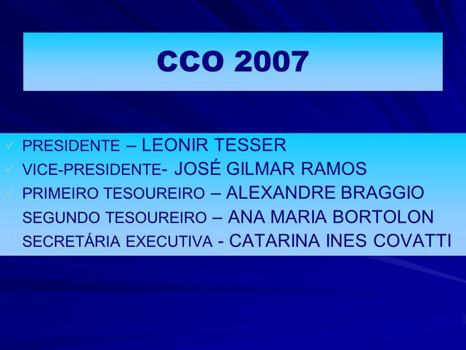 CCO 2007 PRESIDENTE – LEONIR TESSER VICE-PRESIDENTE- JOSÉ GILMAR RAMOS