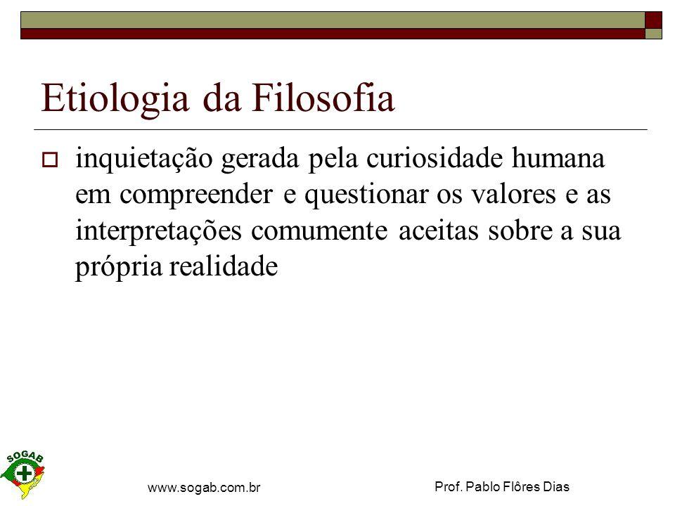Etiologia da Filosofia