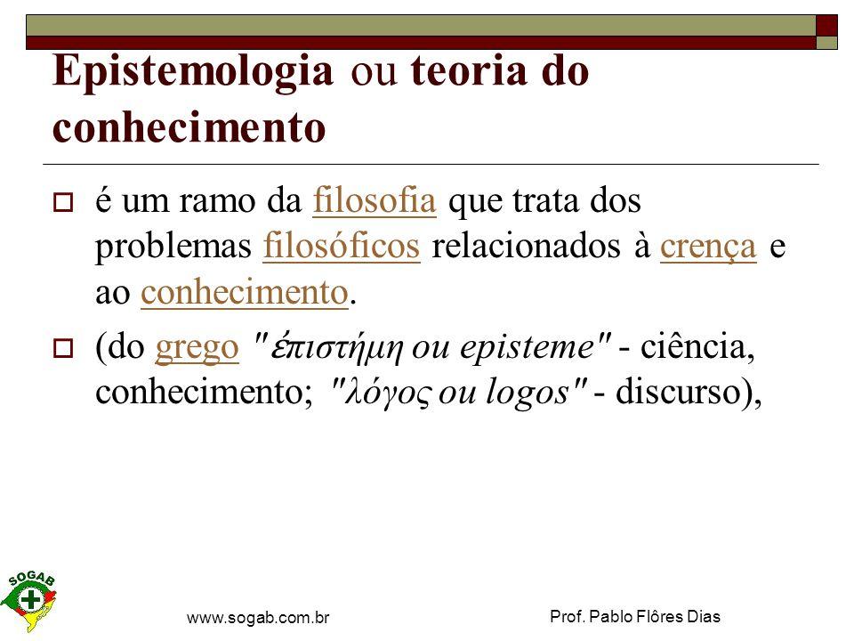 Epistemologia ou teoria do conhecimento