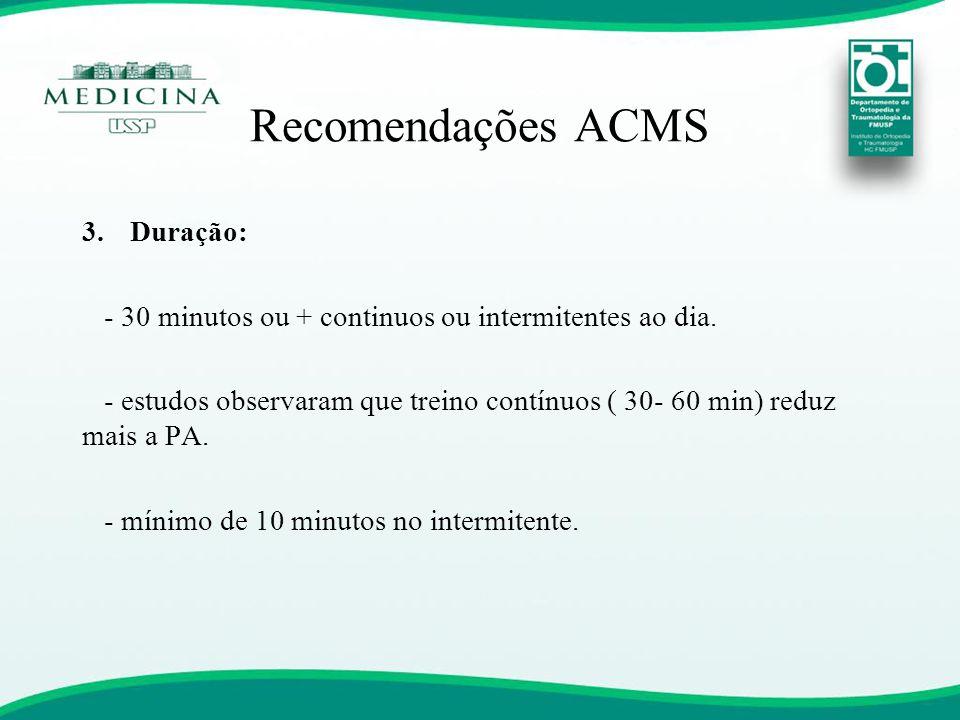 Recomendações ACMS Duração: