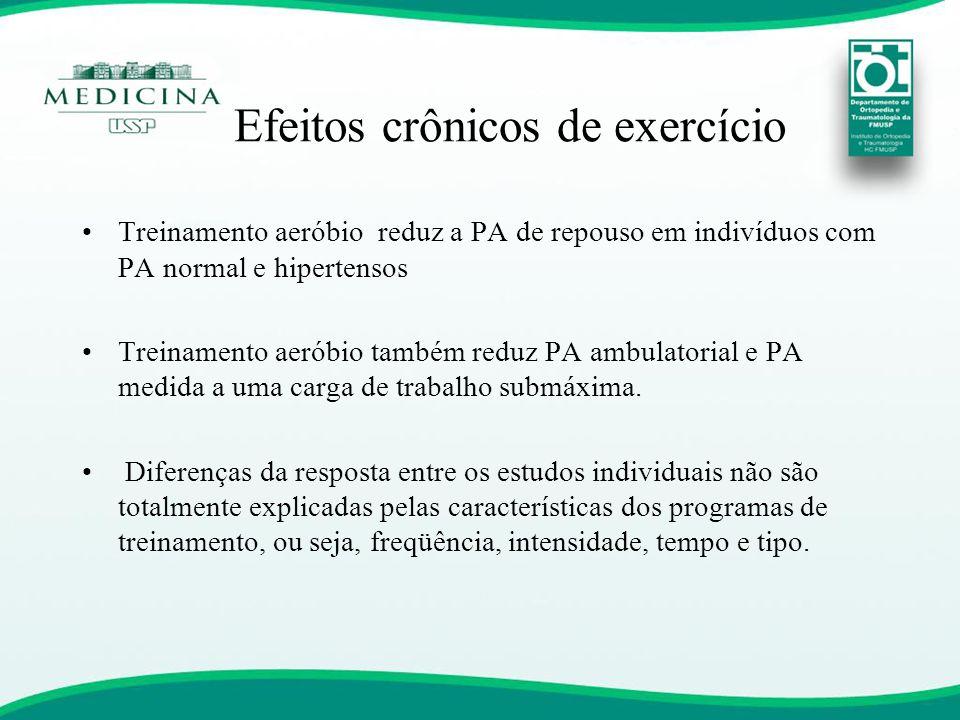 Efeitos crônicos de exercício