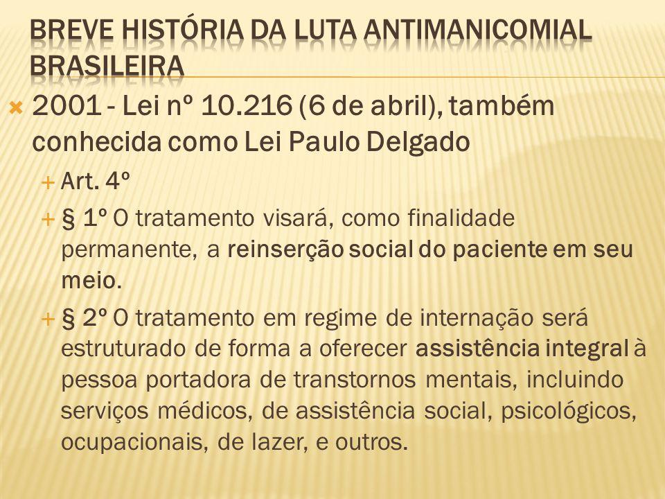 Breve História da luta antimanicomial brasileira