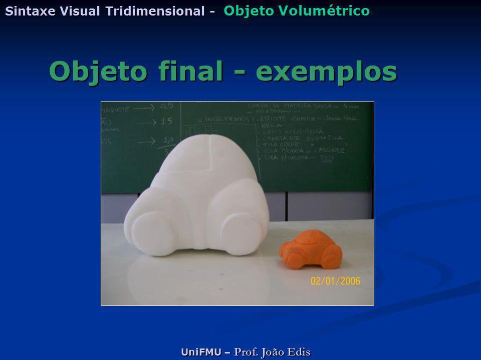 Objeto final - exemplos