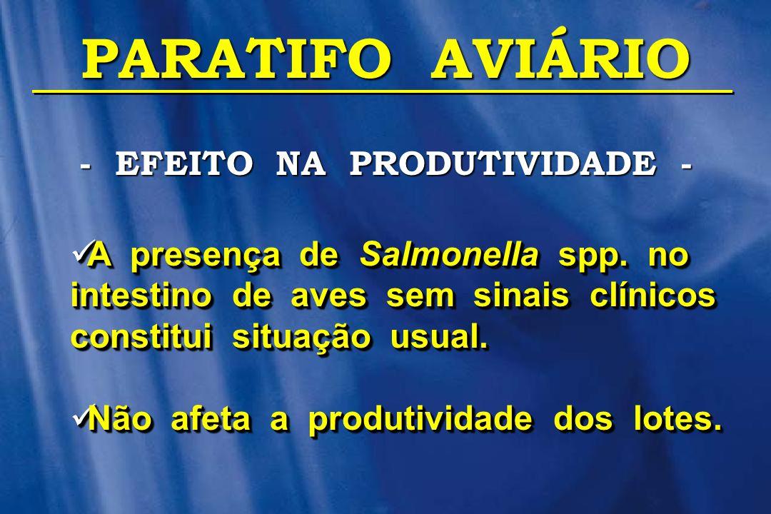 - EFEITO NA PRODUTIVIDADE -