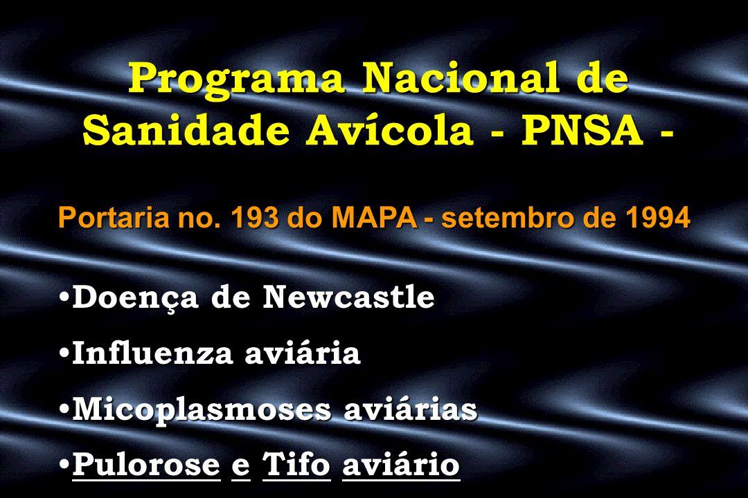 Programa Nacional de Sanidade Avícola - PNSA -
