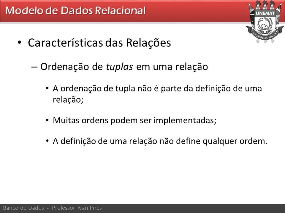 Características das Relações
