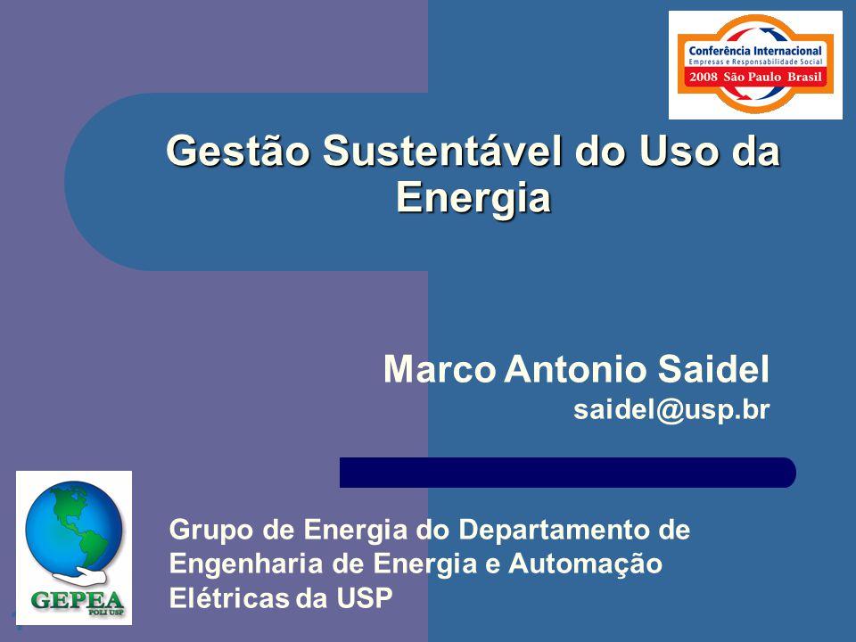 Gestão Sustentável do Uso da Energia