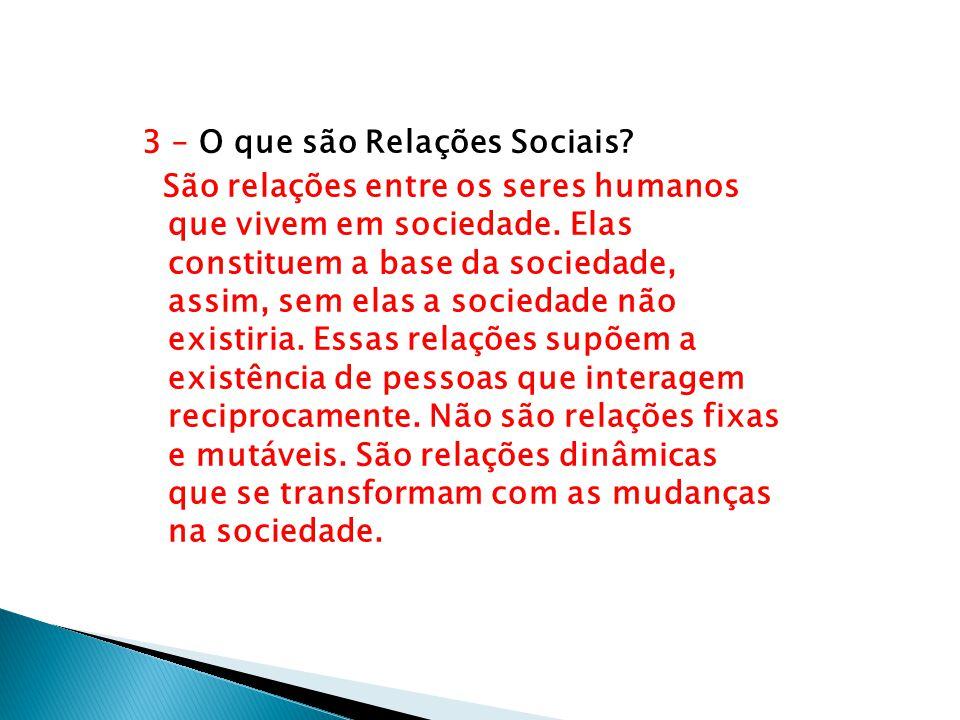 3 – O que são Relações Sociais
