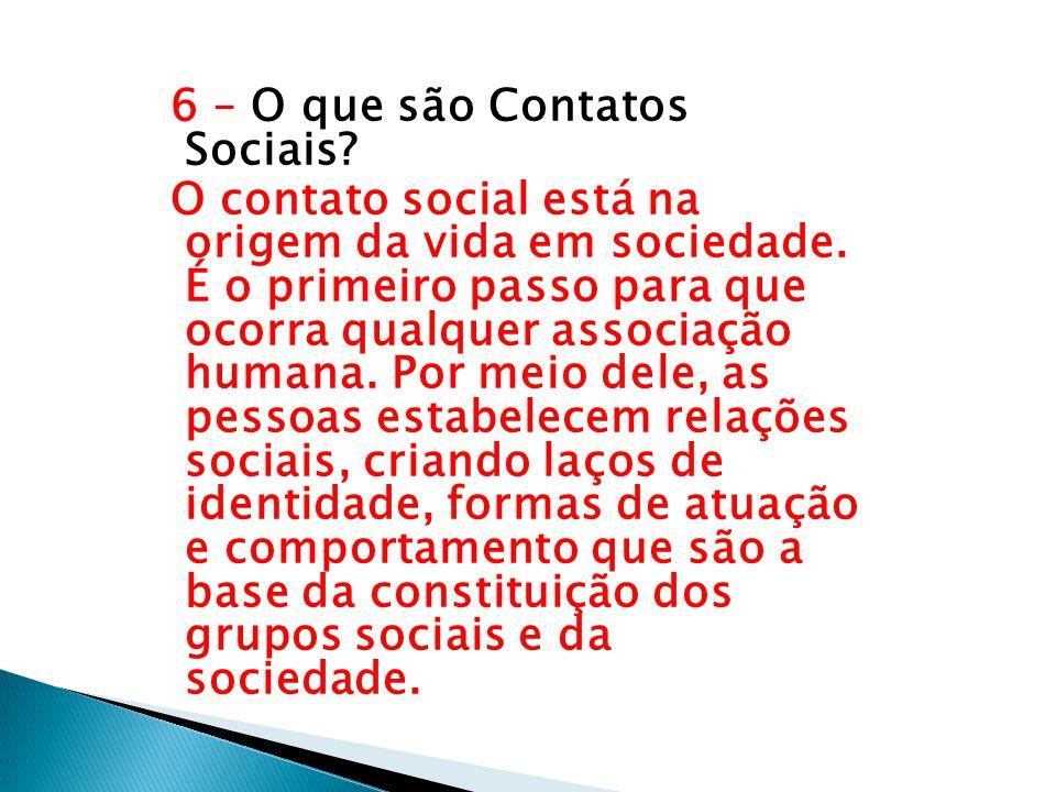 6 – O que são Contatos Sociais