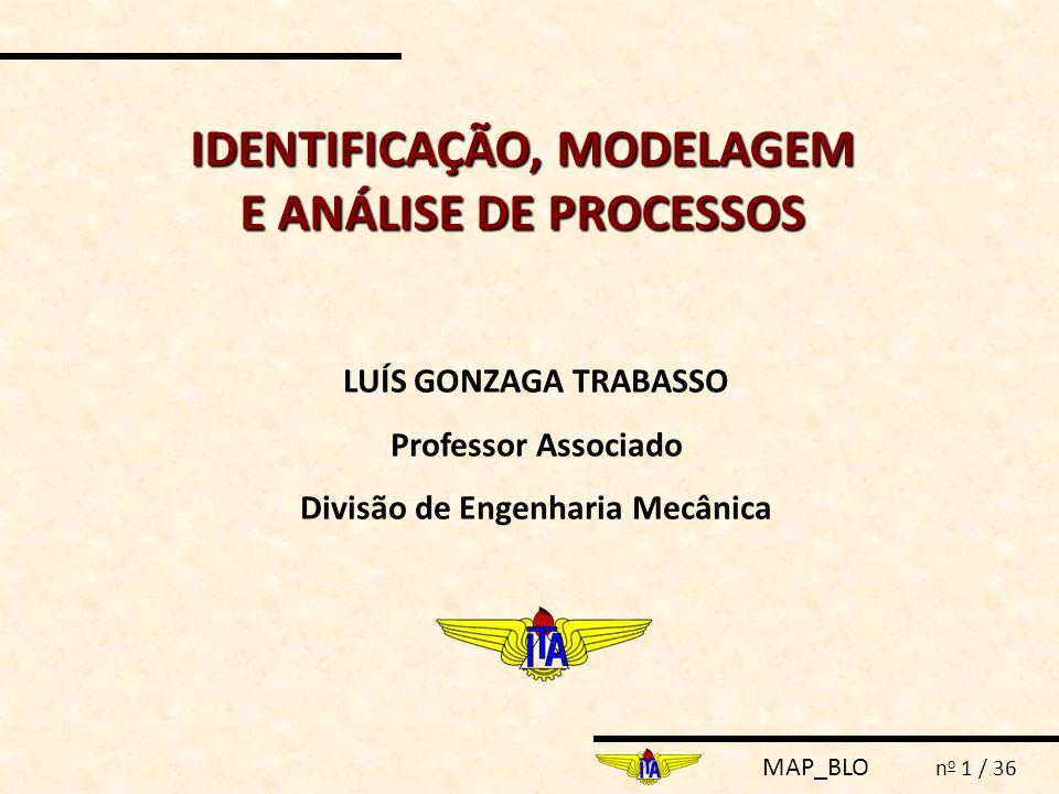 IDENTIFICAÇÃO, MODELAGEM E ANÁLISE DE PROCESSOS