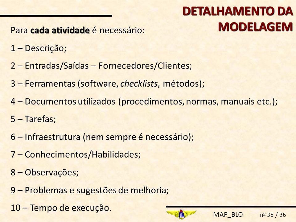 DETALHAMENTO DA MODELAGEM
