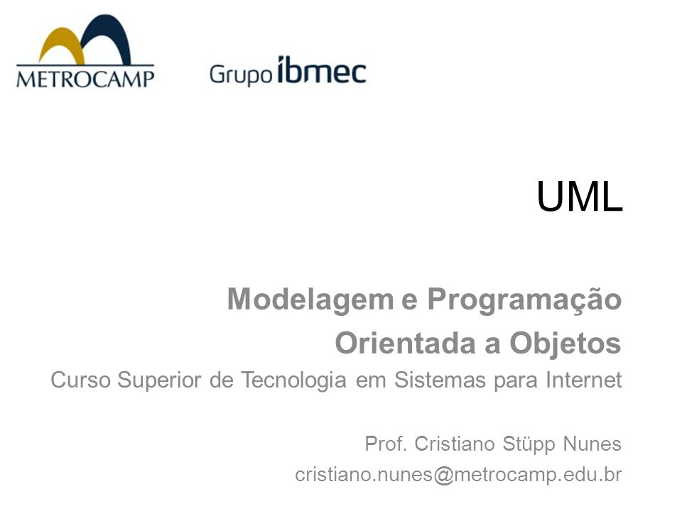 UML Modelagem e Programação Orientada a Objetos