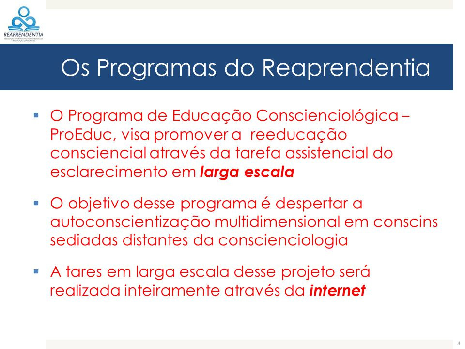 Os Programas do Reaprendentia