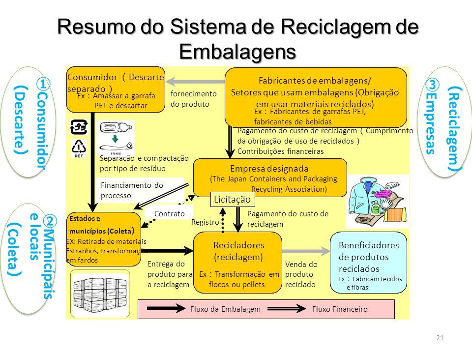 Resumo do Sistema de Reciclagem de Embalagens