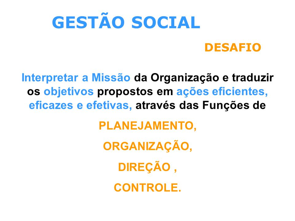 GESTÃO SOCIAL DESAFIO.