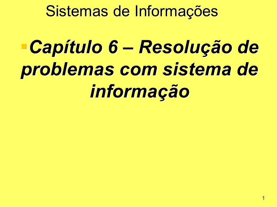 Capítulo 6 – Resolução de problemas com sistema de informação