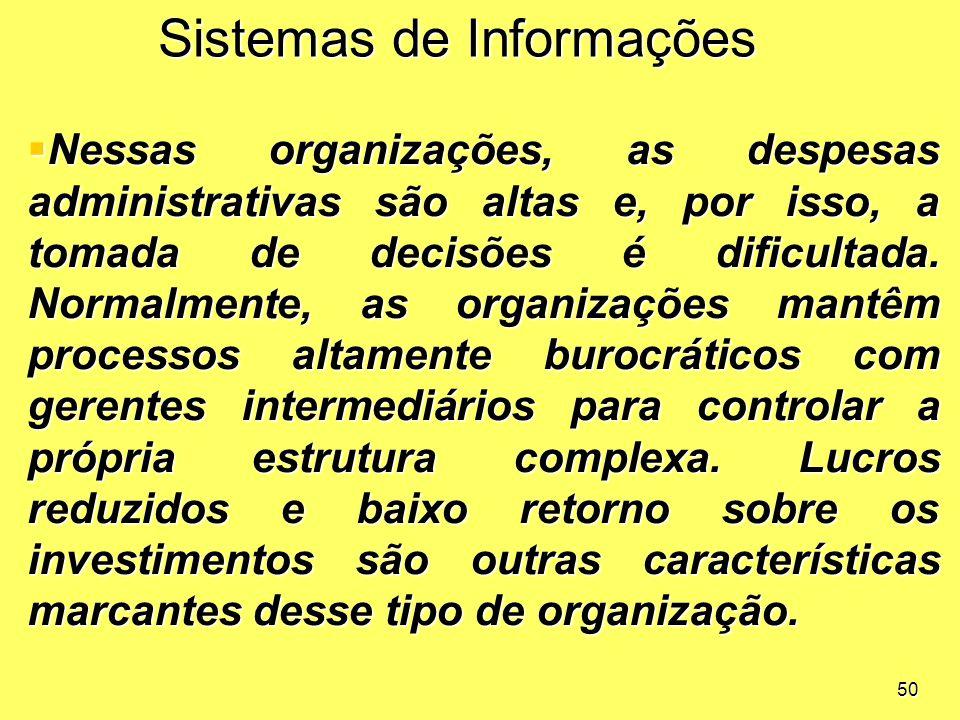 Sistemas de Informações