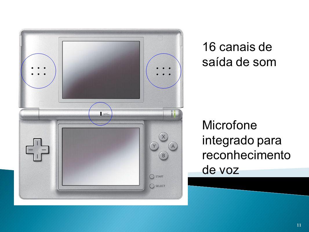 16 canais de saída de som Microfone integrado para reconhecimento de voz