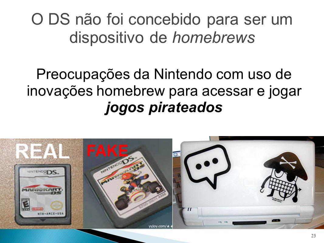 O DS não foi concebido para ser um dispositivo de homebrews