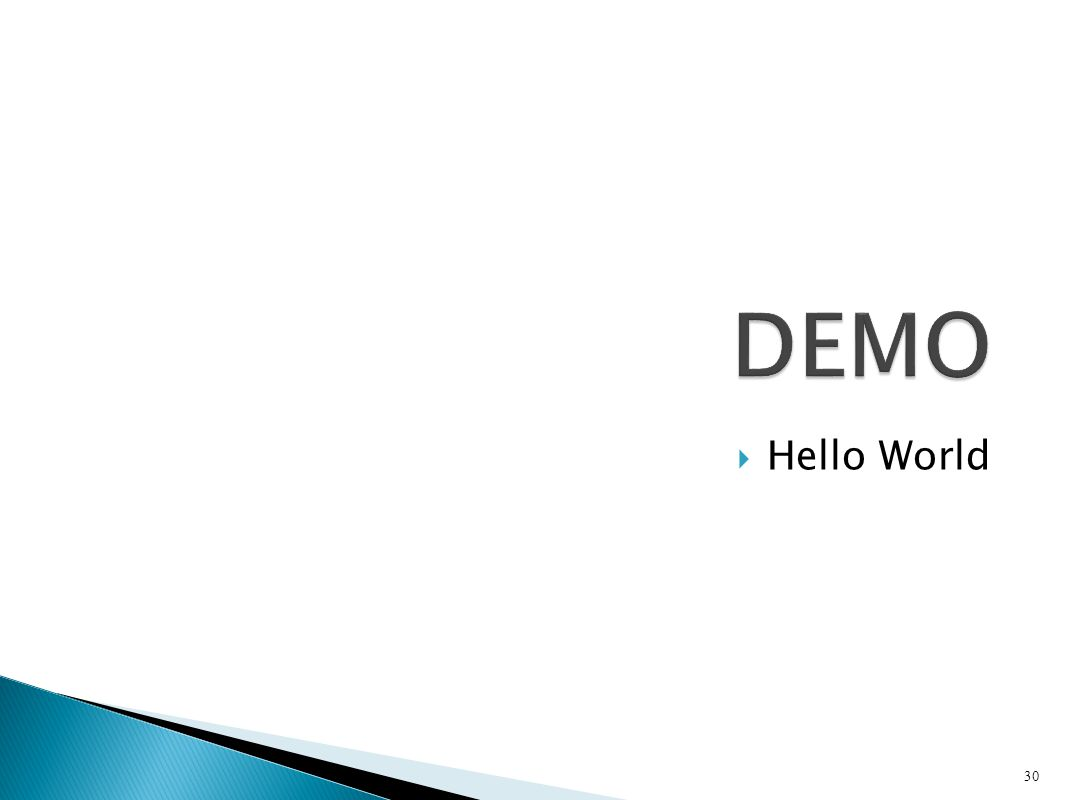 DEMO Hello World