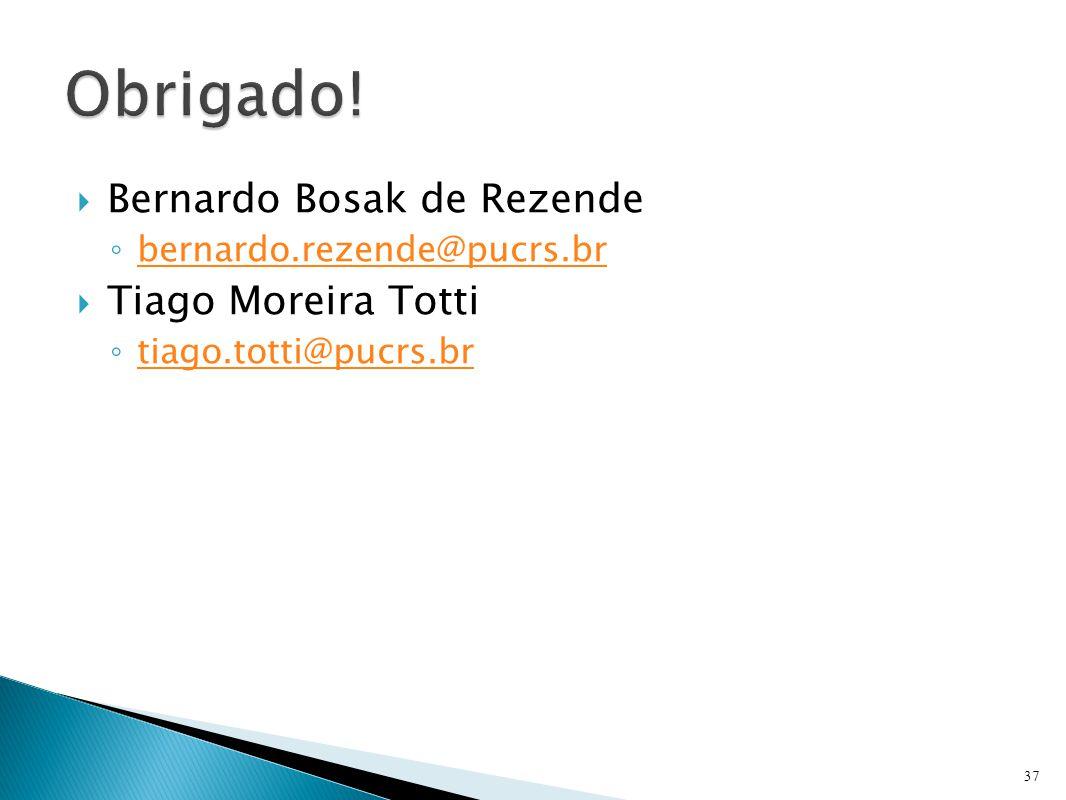 Obrigado! Bernardo Bosak de Rezende Tiago Moreira Totti