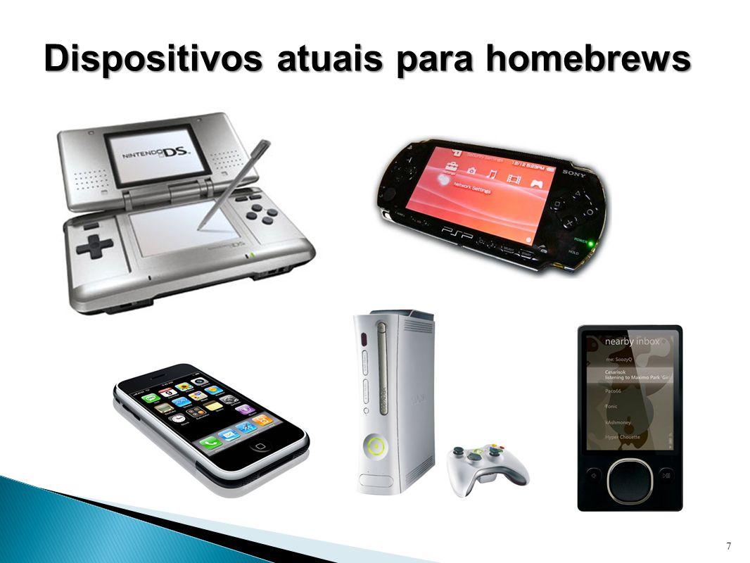 Dispositivos atuais para homebrews