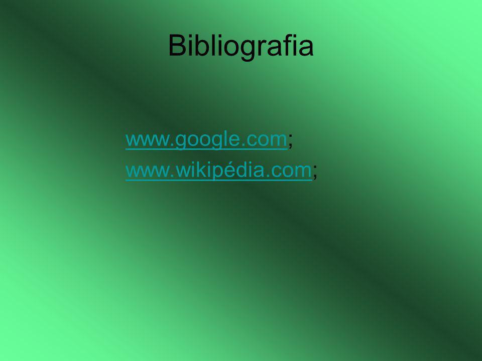 Bibliografia www.google.com; www.wikipédia.com;