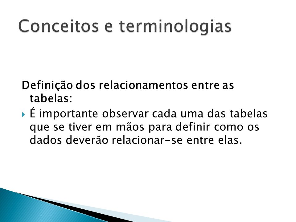 Conceitos e terminologias