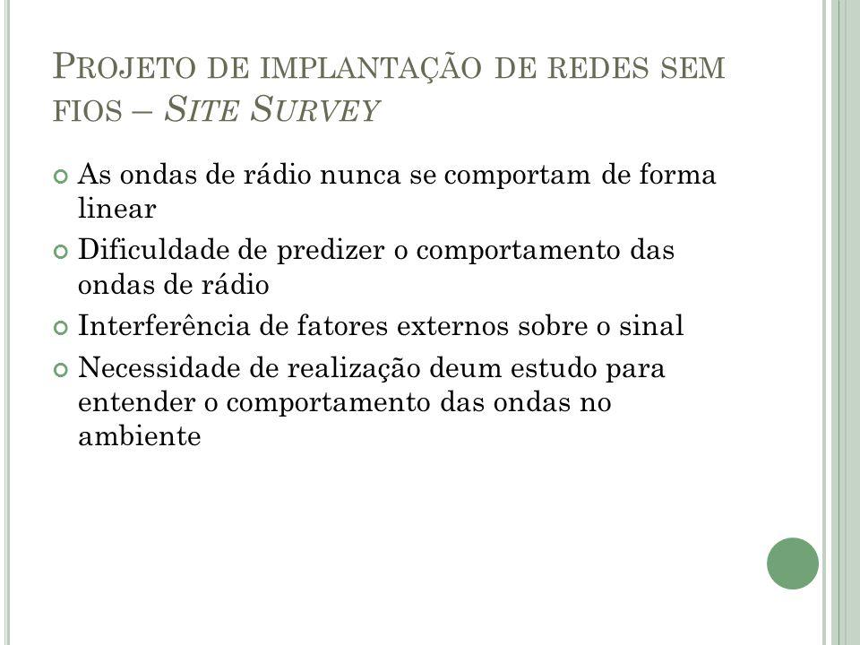 Projeto de implantação de redes sem fios – Site Survey