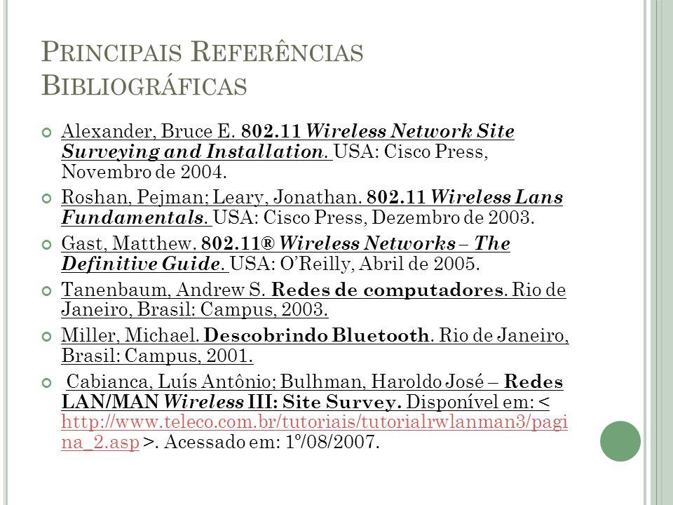 Principais Referências Bibliográficas