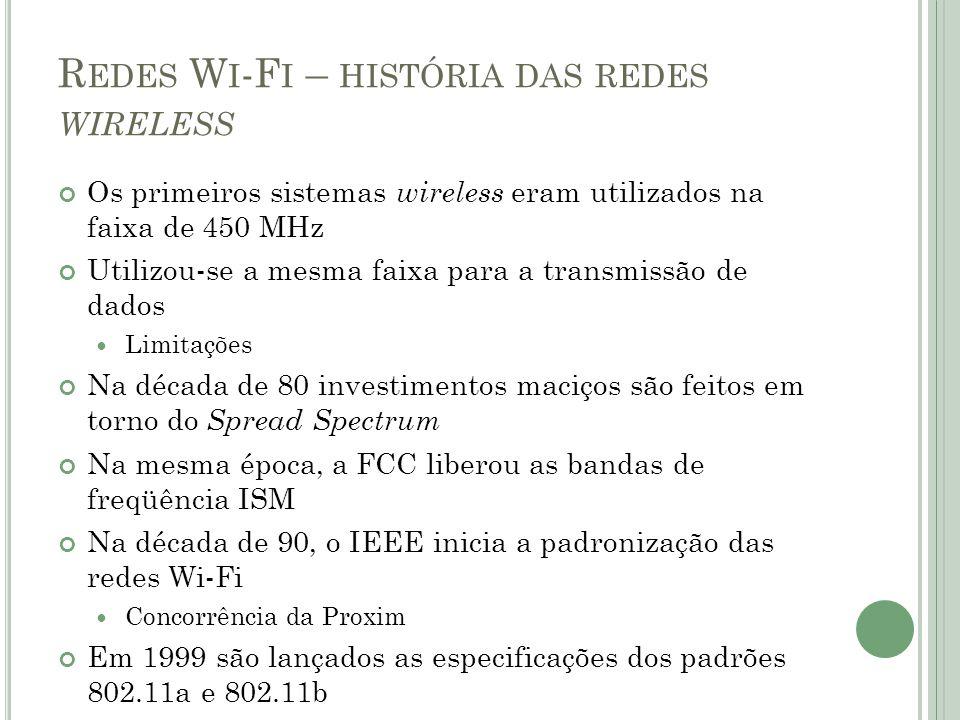 Redes Wi-Fi – história das redes wireless