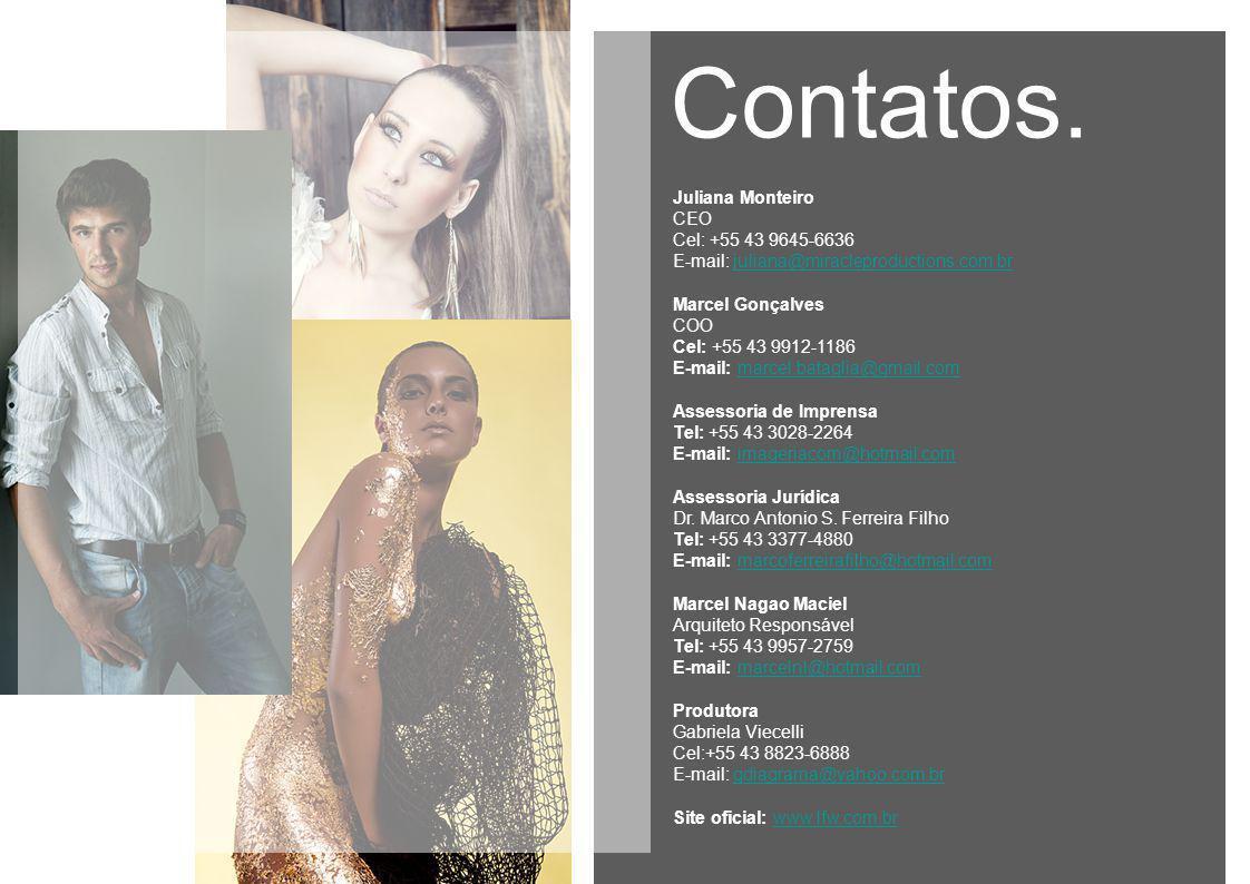 Contatos. Juliana Monteiro CEO Cel: +55 43 9645-6636