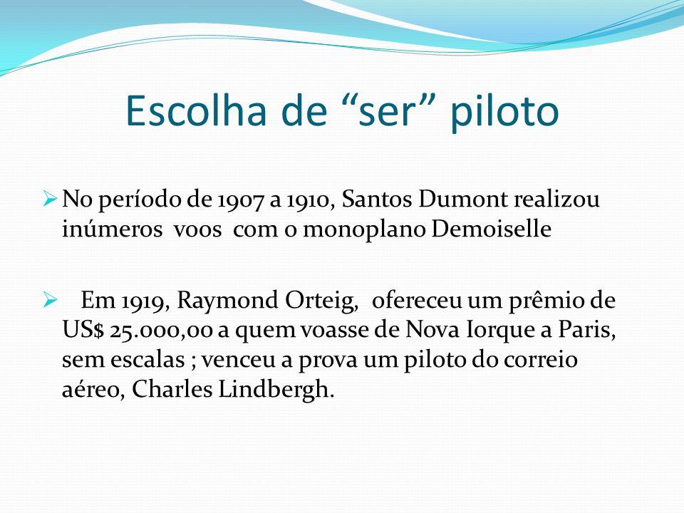 Escolha de ser piloto
