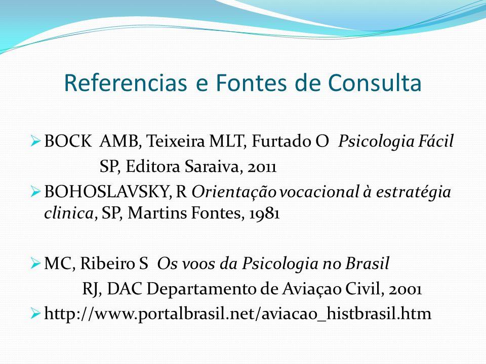 Referencias e Fontes de Consulta