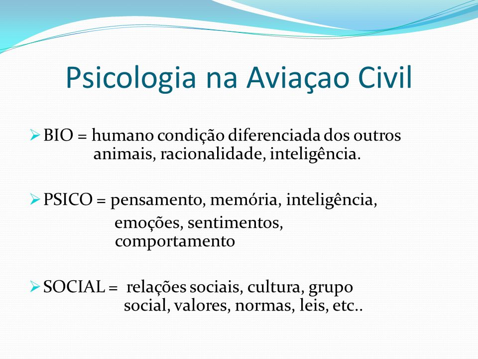 Psicologia na Aviaçao Civil