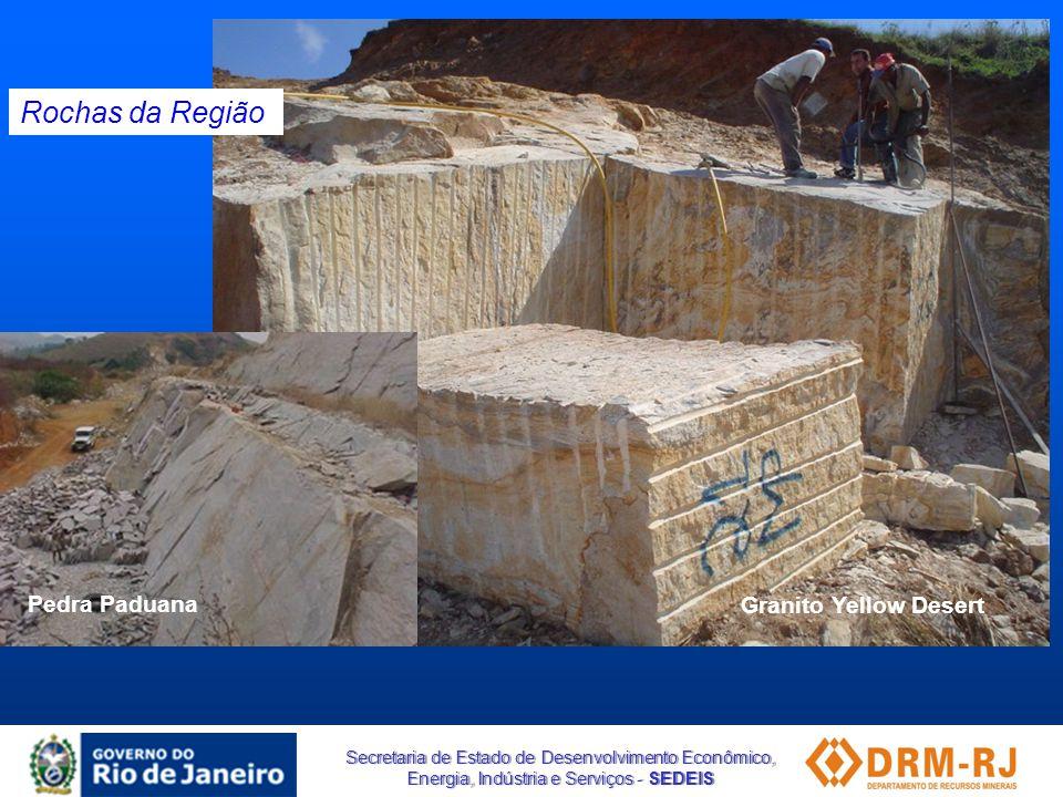 Rochas da Região Pedra Paduana Granito Yellow Desert