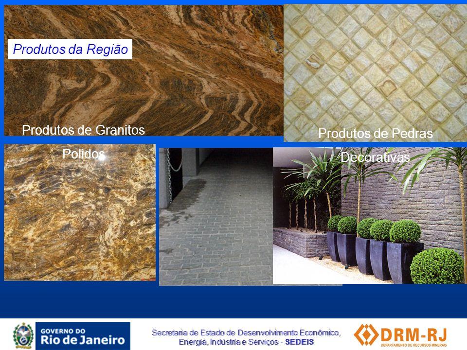 Produtos da Região Produtos de Granitos Polidos Produtos de Pedras Decorativas