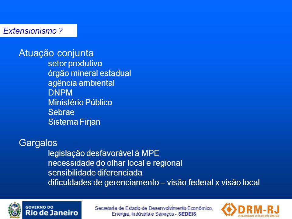 Atuação conjunta Gargalos Extensionismo setor produtivo