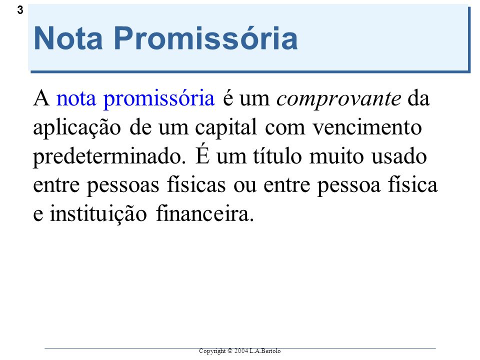 Nota Promissória