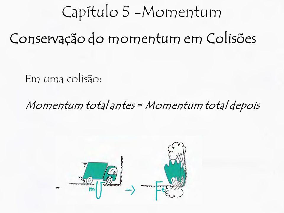 Capítulo 5 -Momentum Conservação do momentum em Colisões