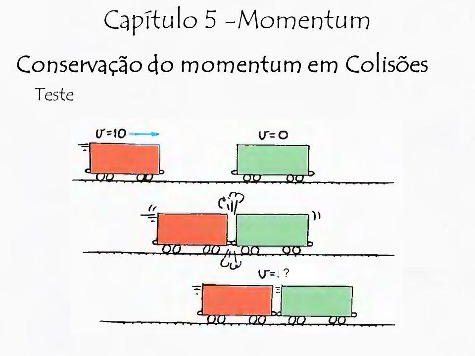 Capítulo 5 -Momentum Conservação do momentum em Colisões Teste