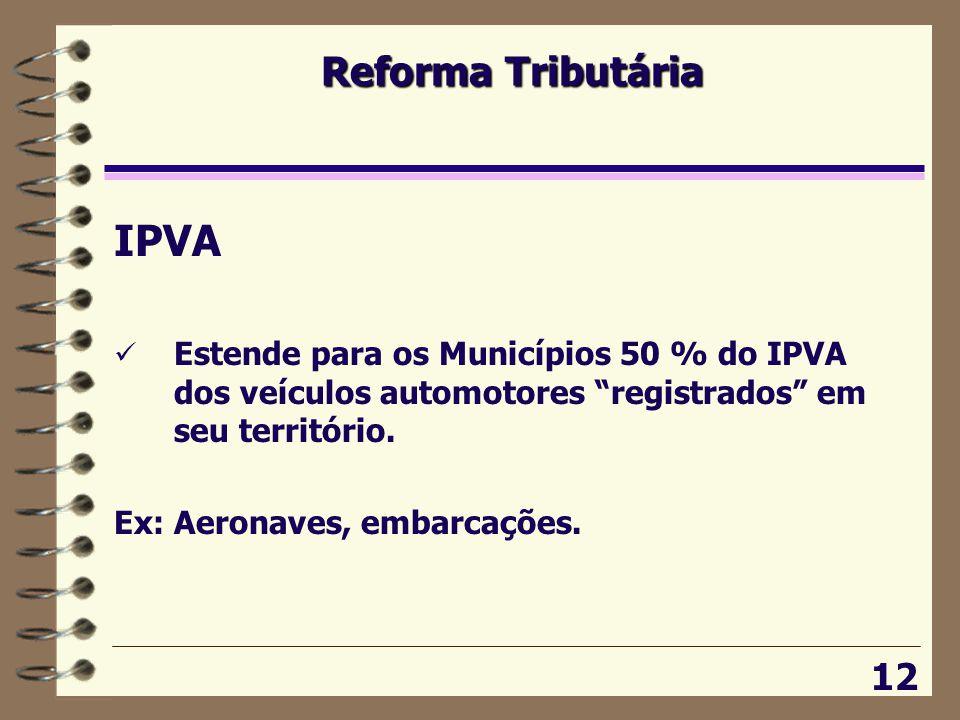 IPVA Reforma Tributária 12