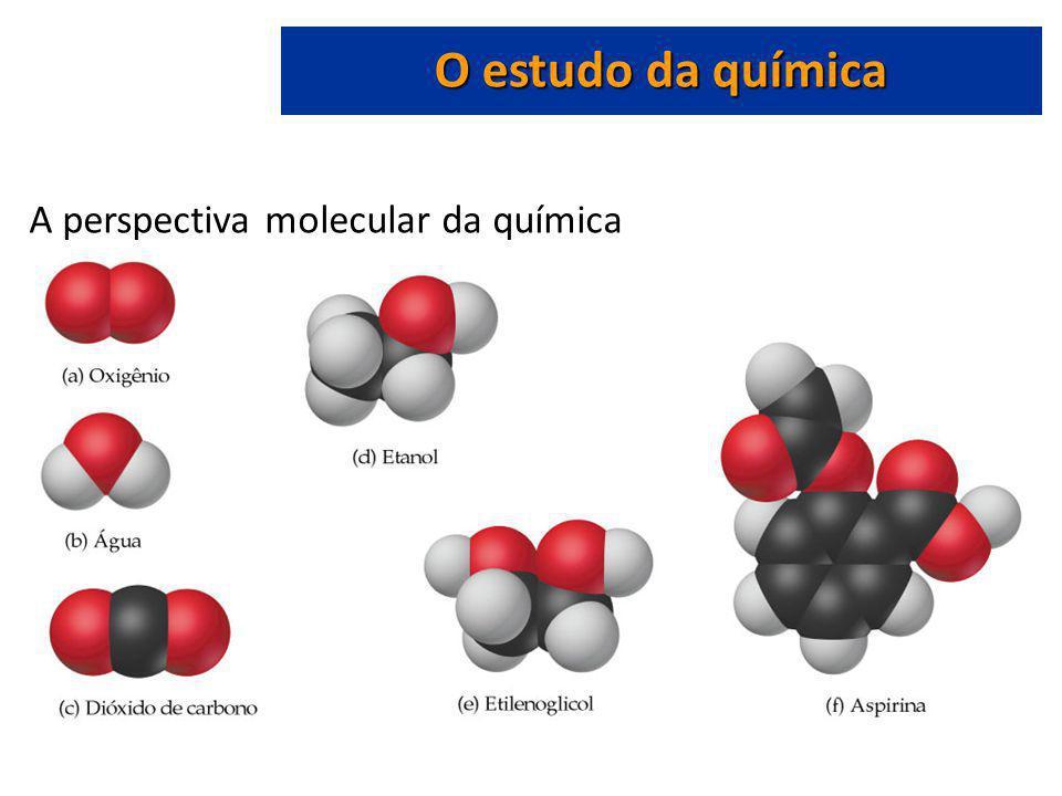 O estudo da química A perspectiva molecular da química