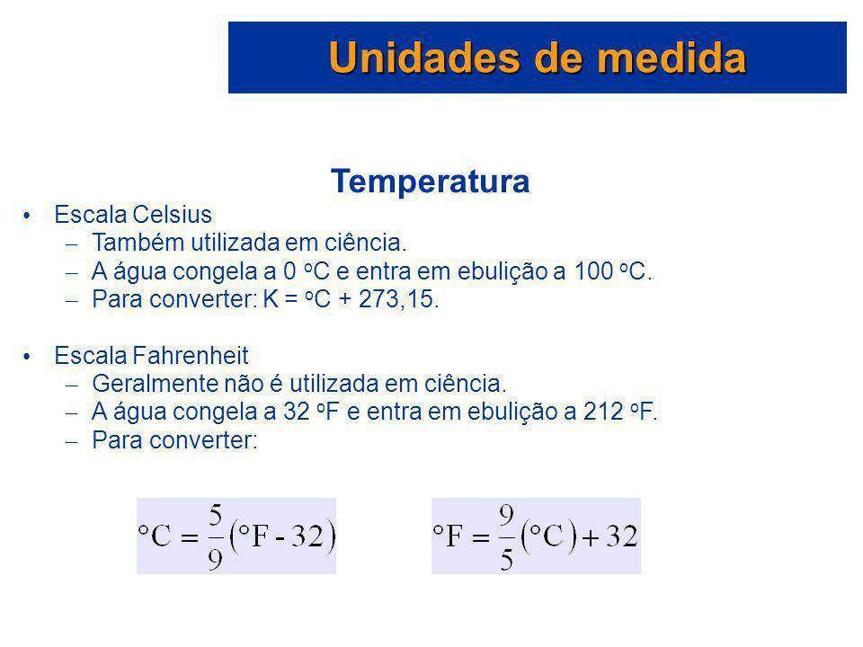 Unidades de medida Temperatura Escala Celsius