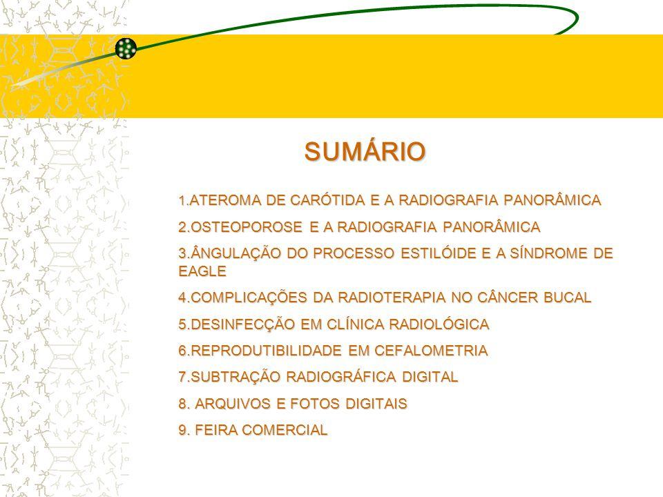 SUMÁRIO 2.OSTEOPOROSE E A RADIOGRAFIA PANORÂMICA