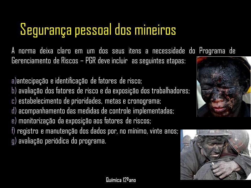 Segurança pessoal dos mineiros