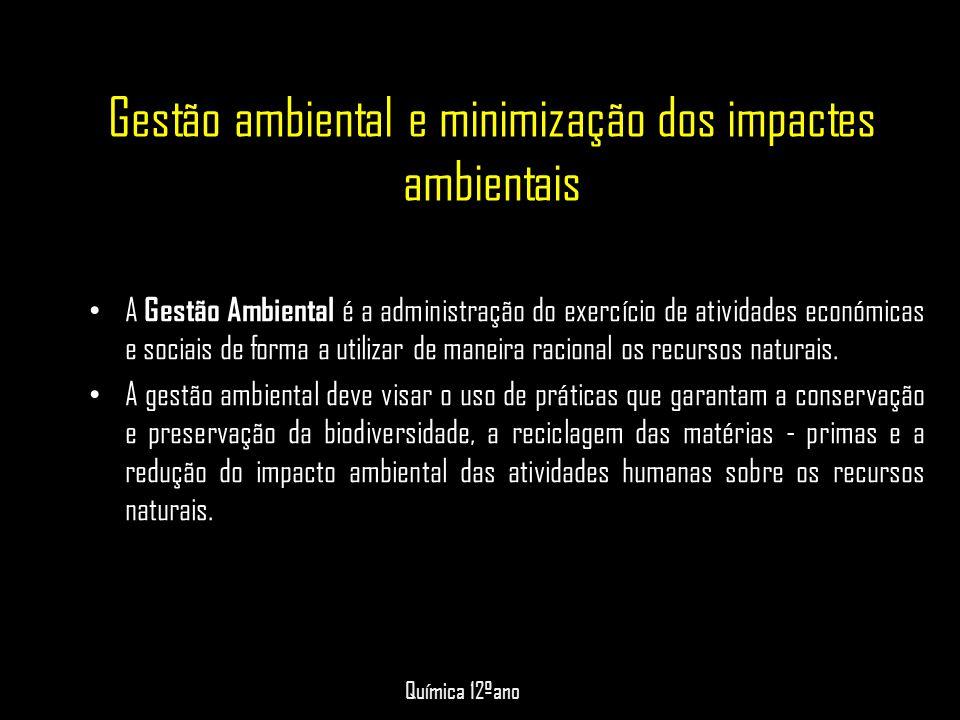 Gestão ambiental e minimização dos impactes ambientais