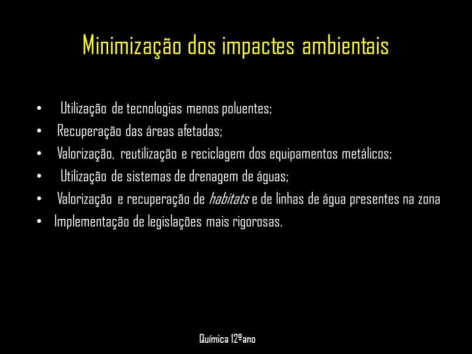 Minimização dos impactes ambientais