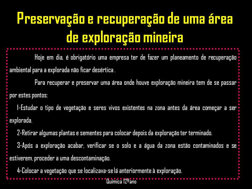 Preservação e recuperação de uma área de exploração mineira